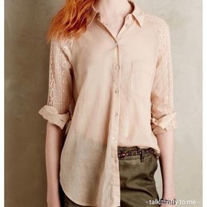 HOLDING HORSES | Lace Detail Blouse Small